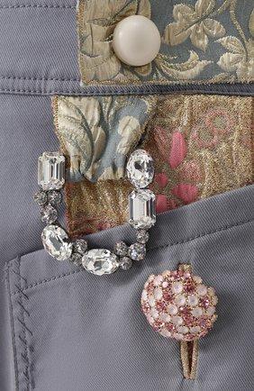 Приталенный комбинезон с контрастной отделкой Dolce & Gabbana серый   Фото №5