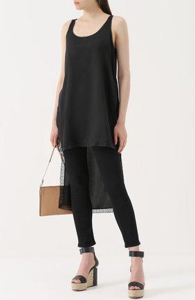 Укороченные джинсы-скинни Rag&Bone черные | Фото №1