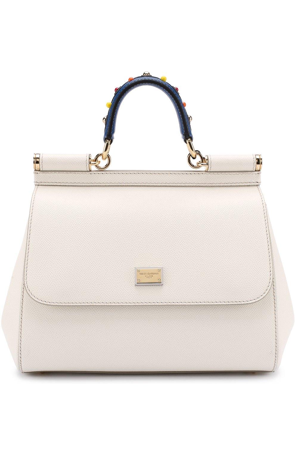 459b49987376 Женская сумка sicily medium DOLCE & GABBANA белая цвета — купить за ...