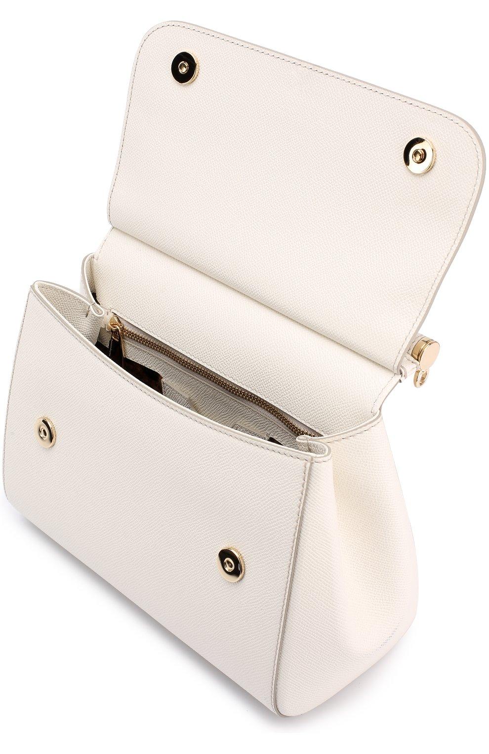 Сумка Sicily medium Dolce & Gabbana белая цвета | Фото №4