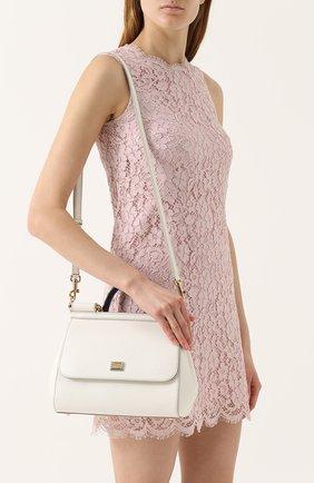 Сумка Sicily medium Dolce & Gabbana белая цвета | Фото №5
