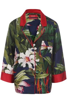 Женская шелковая блуза с принтом F.R.S., цвет синий, арт. CA001141/TE00138 в ЦУМ | Фото №1
