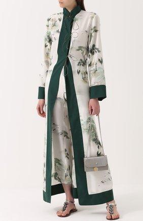 Шелковые брюки с принтом F.R.S. светло-серые | Фото №1