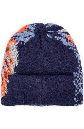 Вязаная шапка из шерсти Tak.Ori бежевого цвета | Фото №1