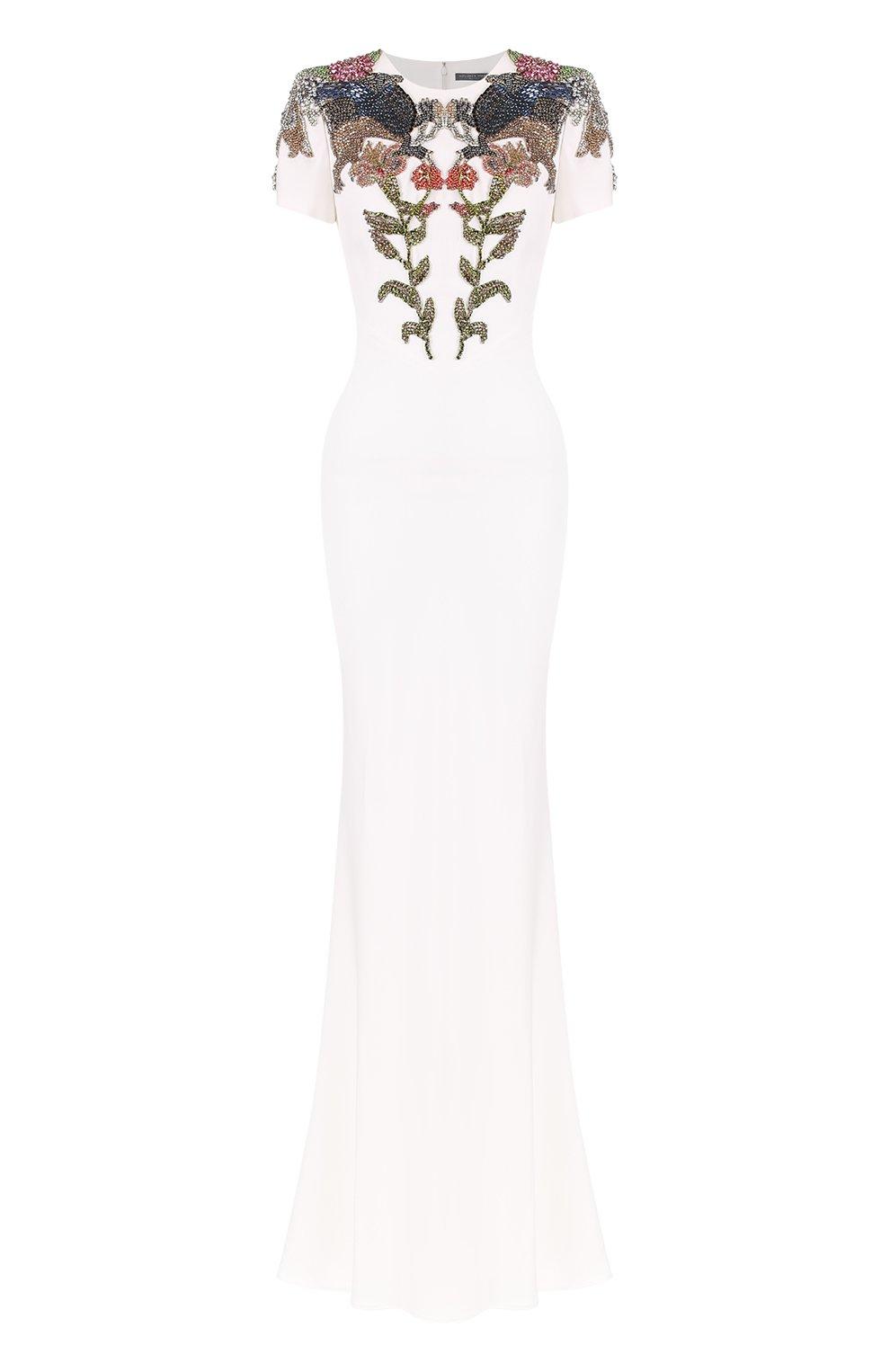 Приталенное платье с вышивкой | Фото №1