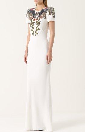 Приталенное платье с вышивкой | Фото №3