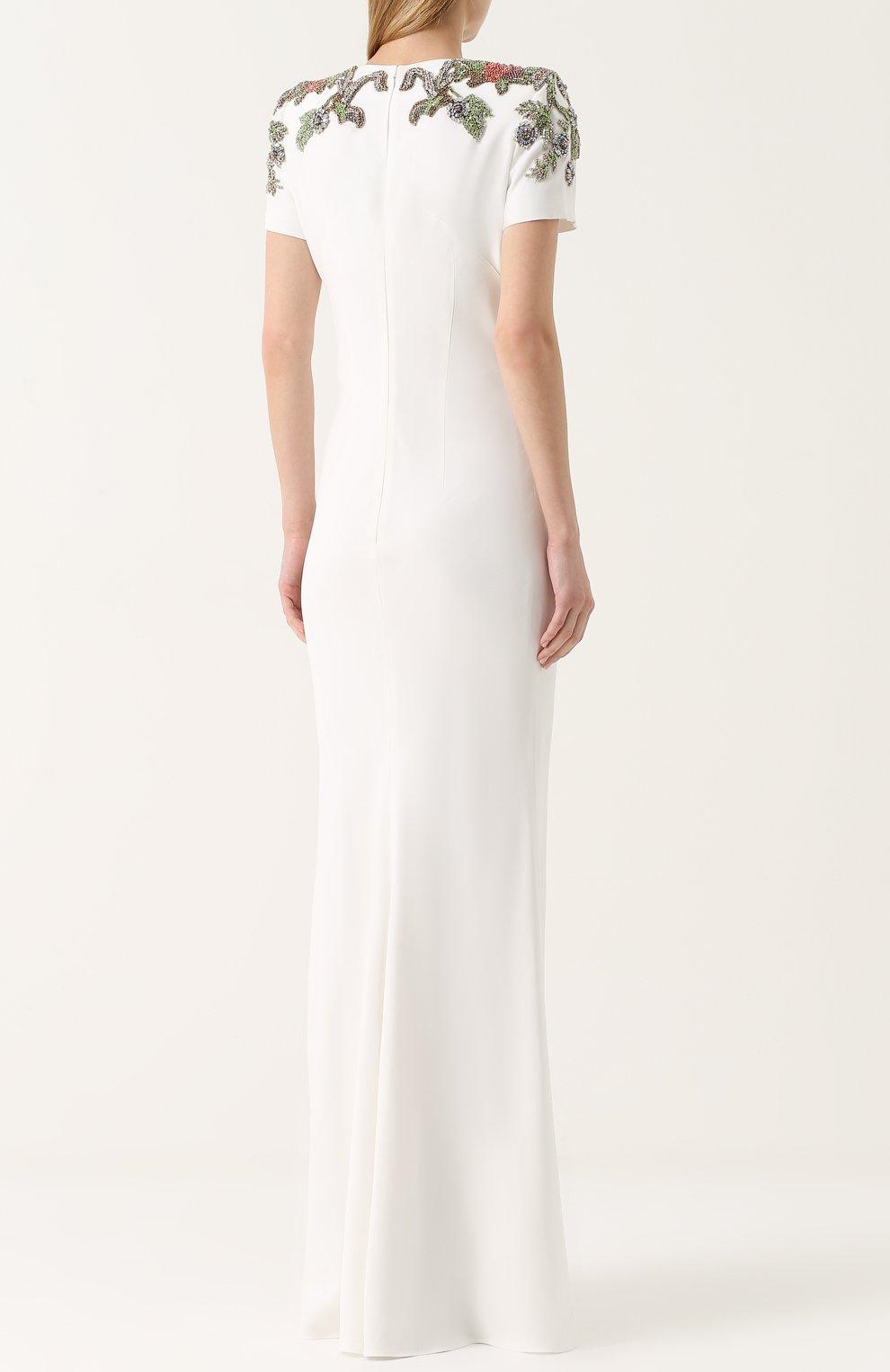 Приталенное платье с вышивкой | Фото №4