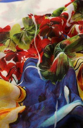Шарф из смеси вискозы и кашемира с принтом Dolce & Gabbana разноцветный | Фото №2