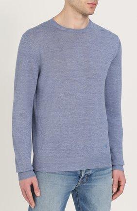 Джемпер тонкой вязки из смеси льна и шелка | Фото №3