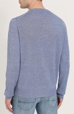 Джемпер тонкой вязки из смеси льна и шелка | Фото №4