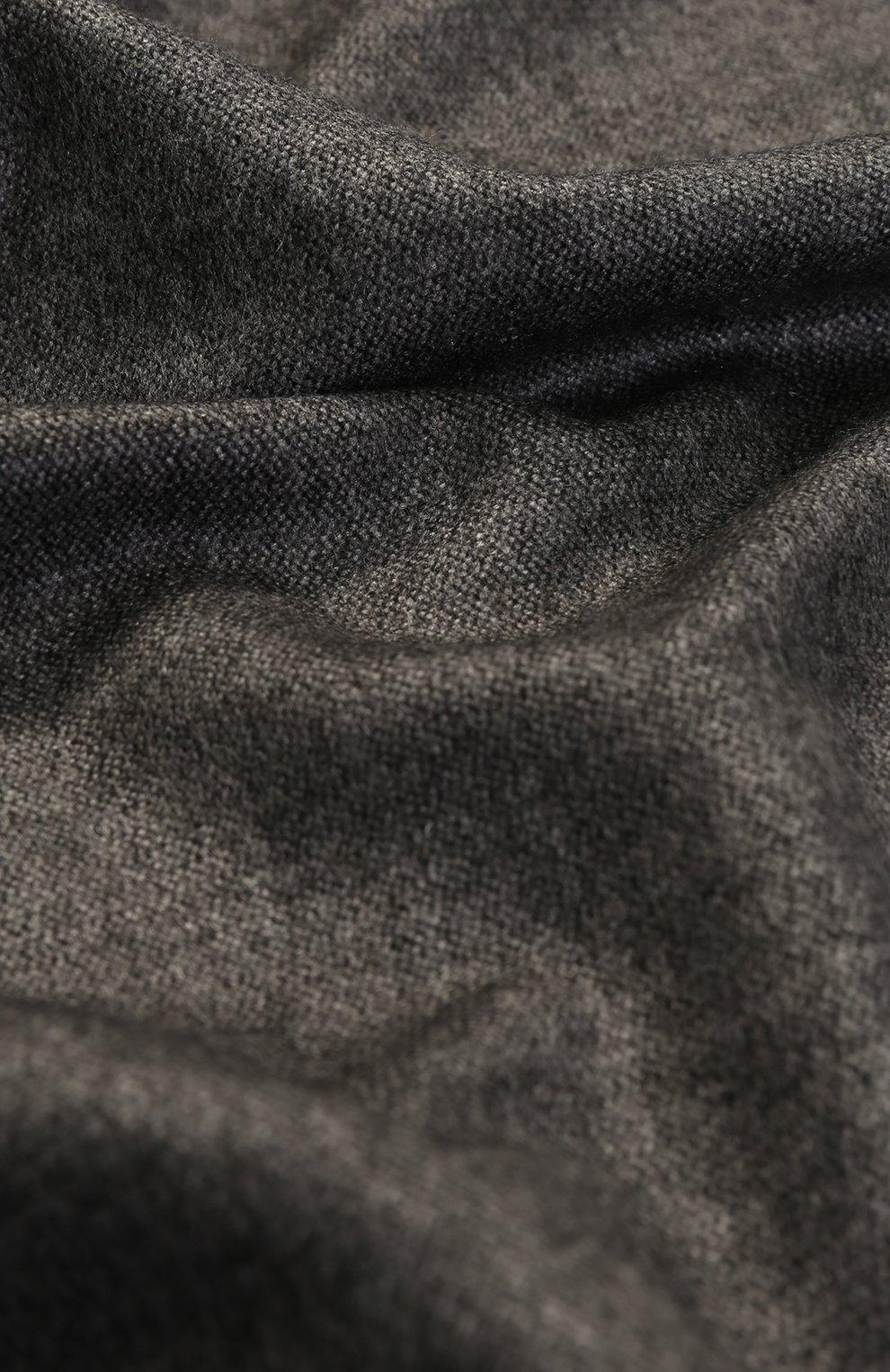 Шарф из смеси шелка и кашемира Dolce & Gabbana серый | Фото №2