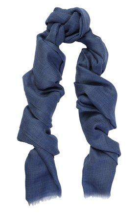 Кашемировый шарф Dolce & Gabbana голубой | Фото №1