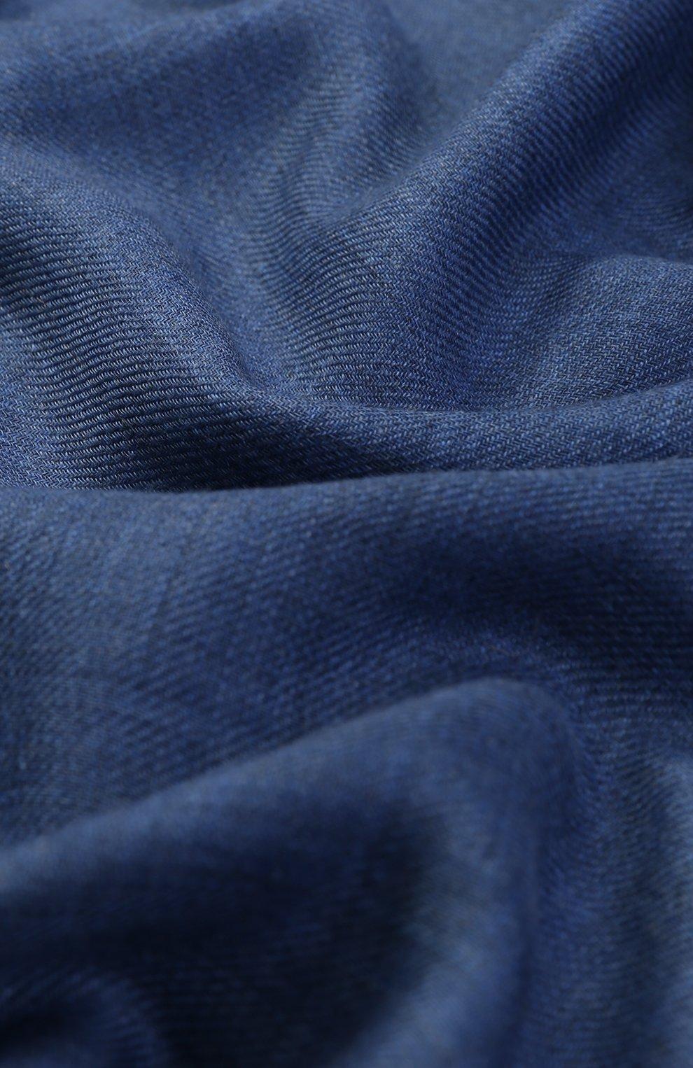 Кашемировый шарф Dolce & Gabbana голубой | Фото №2