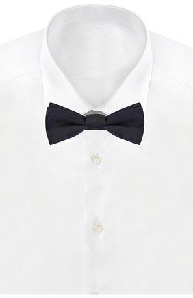 Шелковый галстук-бабочка Dolce & Gabbana темно-синего цвета | Фото №2