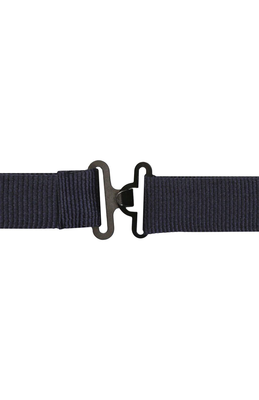 Шелковый галстук-бабочка Dolce & Gabbana темно-синего цвета | Фото №3