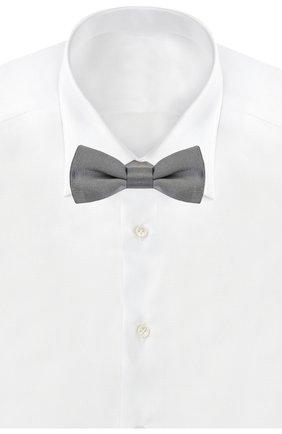 Шелковый галстук-бабочка Dolce & Gabbana серого цвета | Фото №2