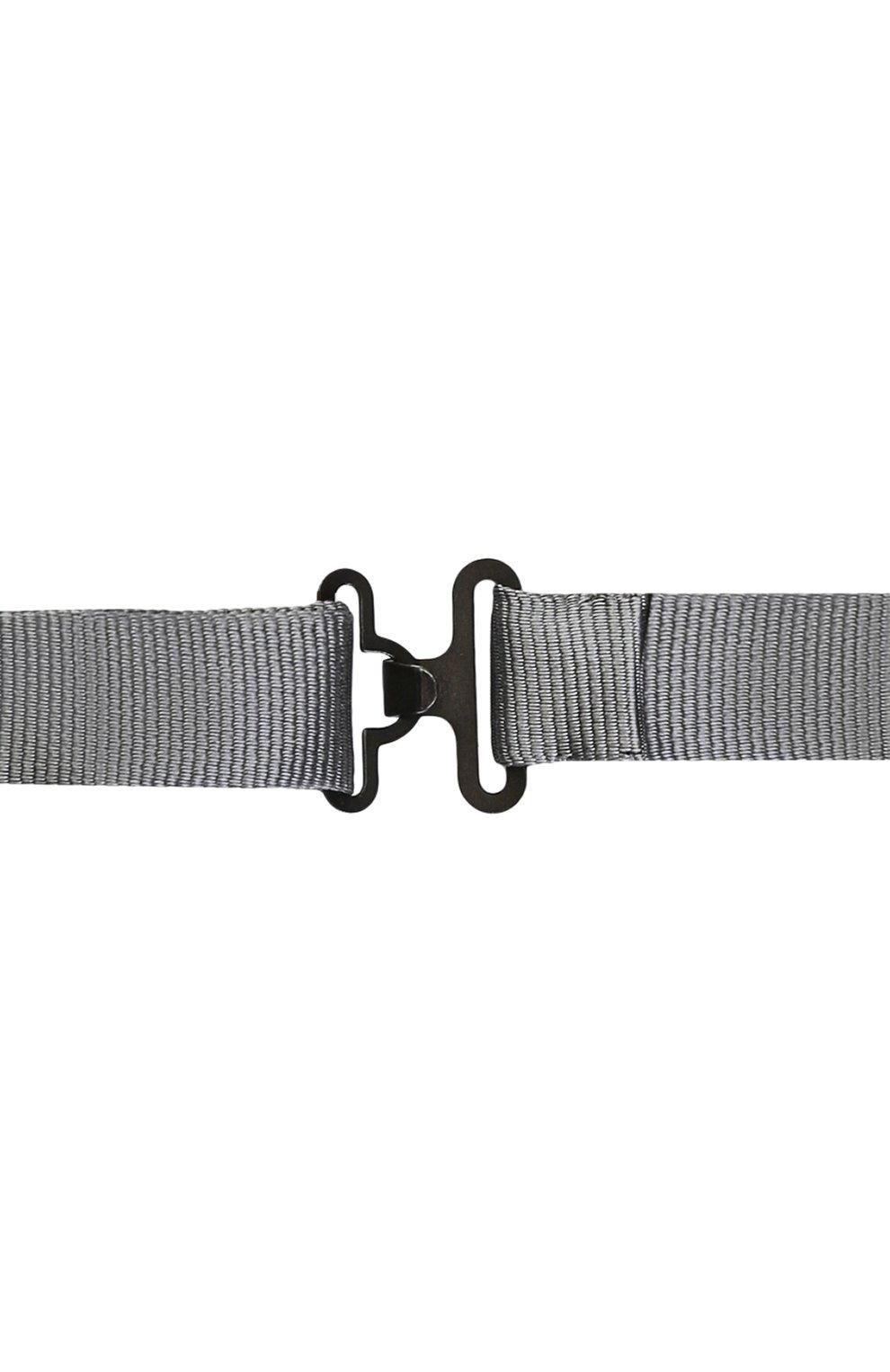 Шелковый галстук-бабочка Dolce & Gabbana серого цвета | Фото №3