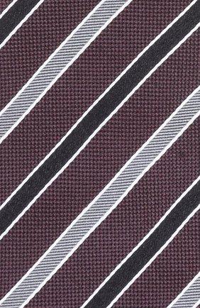 Шелковый галстук в полоску Dolce & Gabbana бордового цвета | Фото №3
