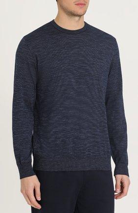 Джемпер тонкой вязки из смеси шерсти и хлопка с кашемиром | Фото №3