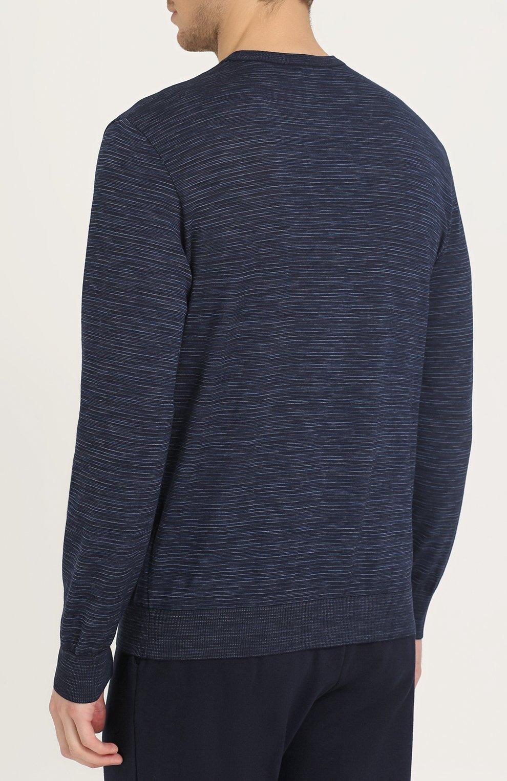 Джемпер тонкой вязки из смеси шерсти и хлопка с кашемиром | Фото №4