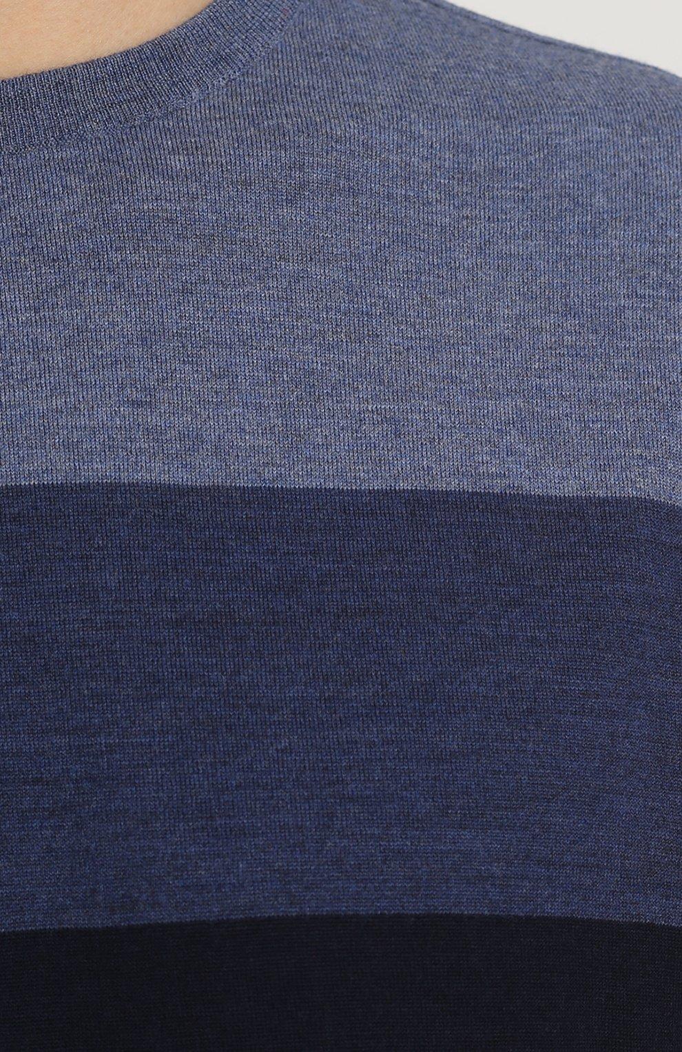 Джемпер тонкой вязки из смеси шерсти и кашемира   Фото №5