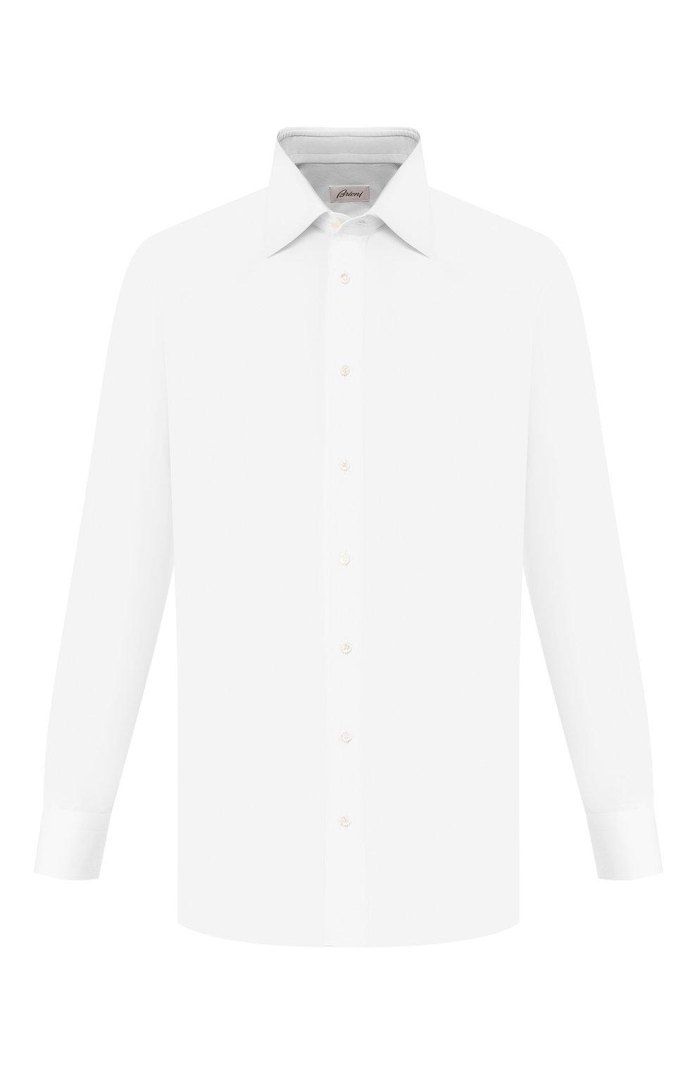 Мужская хлопковая сорочка BRIONI белого цвета, арт. RCL9/PZ034 | Фото 1