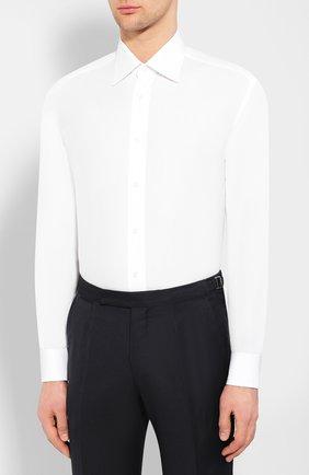 Мужская хлопковая сорочка BRIONI белого цвета, арт. RCL9/PZ034 | Фото 3