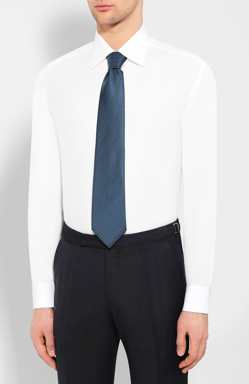 Мужская хлопковая сорочка BRIONI белого цвета, арт. RCL9/PZ034 | Фото 4