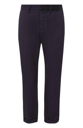 Хлопковые укороченные брюки прямого кроя