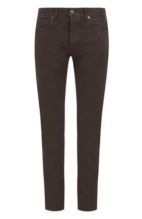Мужские джинсы прямого кроя TOM FORD оливкового цвета, арт. BMJ17TFD002 | Фото 1