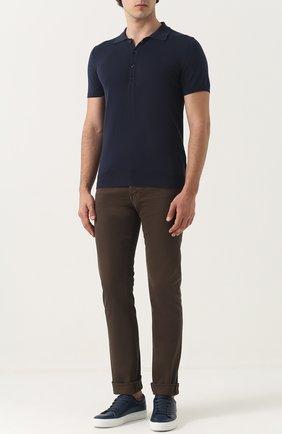 Мужские джинсы прямого кроя TOM FORD оливкового цвета, арт. BMJ17TFD002 | Фото 2