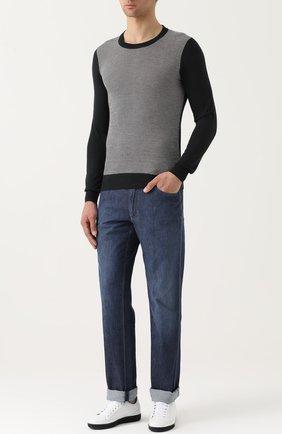 Джемпер из смеси шерсти и шелка с кашемиром   Фото №2