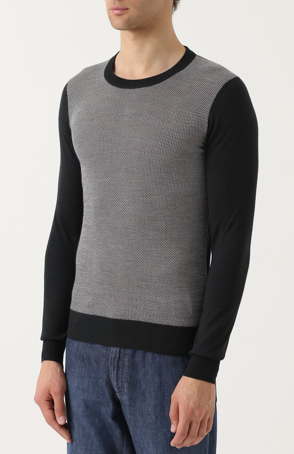 Джемпер из смеси шерсти и шелка с кашемиром   Фото №3