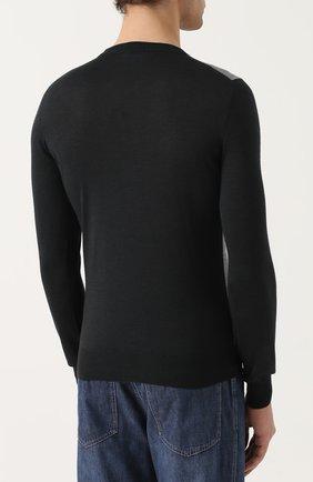 Джемпер из смеси шерсти и шелка с кашемиром   Фото №4