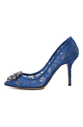 Женская текстильные туфли rainbow lace DOLCE & GABBANA синего цвета, арт. 0112/CD0101/AL198 | Фото 2