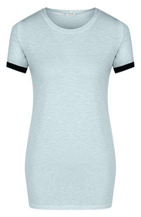 Удлиненная футболка с круглым вырезом   Фото №1