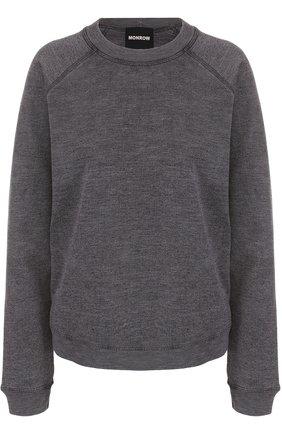 Пуловер прямого кроя с круглым вырезом   Фото №1