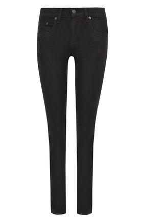 Женские однотонные джинсы-скинни RAG&BONE черного цвета, арт. W1502K520 | Фото 1