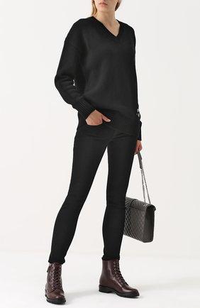 Женские однотонные джинсы-скинни RAG&BONE черного цвета, арт. W1502K520 | Фото 2
