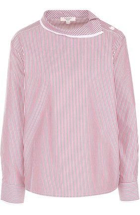 Женская хлопковая блуза в полоску Atlantique Ascoli, цвет красный, арт. 3-0BV7-8-P0P04 в ЦУМ | Фото №1