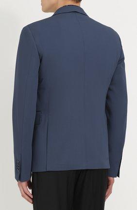 Шерстяной однобортный пиджак Dolce & Gabbana синий | Фото №4