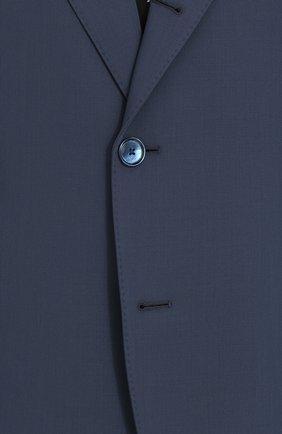 Шерстяной однобортный пиджак Dolce & Gabbana синий | Фото №5