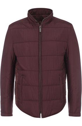 Двусторонняя куртка на молнии из смеси шелка и кашемира со льном | Фото №1