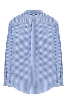 Детская хлопковая рубашка с логотипом бренда RALPH LAUREN синего цвета, арт. 323600259 | Фото 2