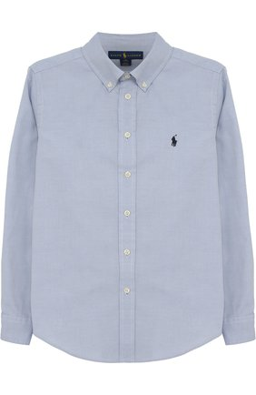 Хлопковая рубашка с логотипом бренда | Фото №1