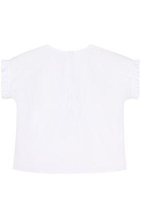 Хлопковый комплект из футболки и шорт с леопардовым принтом | Фото №3