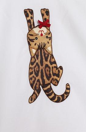 Хлопковый комплект из футболки и шорт с леопардовым принтом | Фото №6