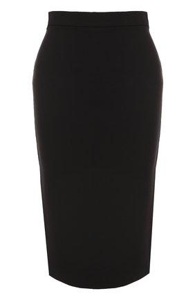 Вязаная юбка-карандаш | Фото №1