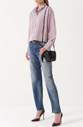 Женская блуза свободного кроя в клетку Atlantique Ascoli, цвет красный, арт. 2-0BV7-8-P0P04 в ЦУМ | Фото №1