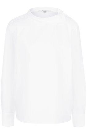 Женская хлопковая блуза прямого кроя Atlantique Ascoli, цвет белый, арт. 3-0BV7-8-P0P03 в ЦУМ | Фото №1